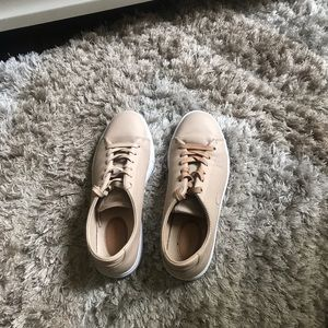 Women's Lacoste Nude Leather Sneaker